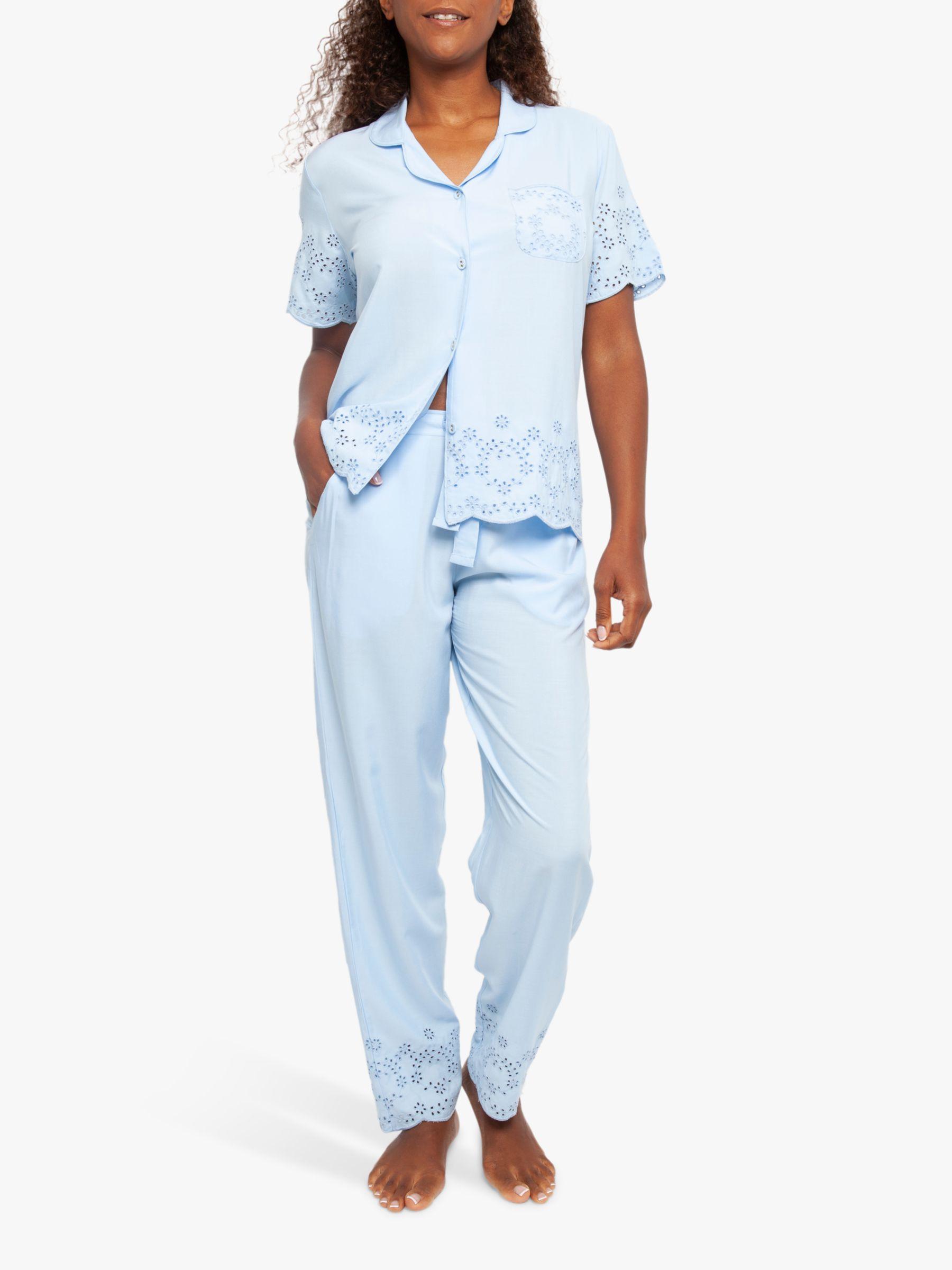 Cyberjammies Cyberjammies Olivia Short Sleeve Pyjama Set, Blue