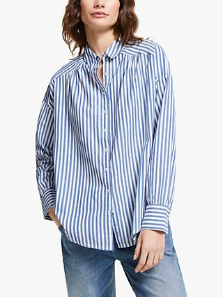 AND/OR Abby Stripe Shirt, Blue/White