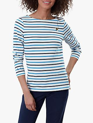 Joules Harbour Cotton Embroidered Top, Buzz Bee Stripe