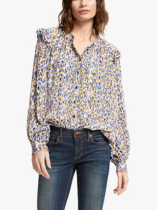 Buy AND/OR Arlo Ikat Blouse, Multi, 10 Online at johnlewis.com