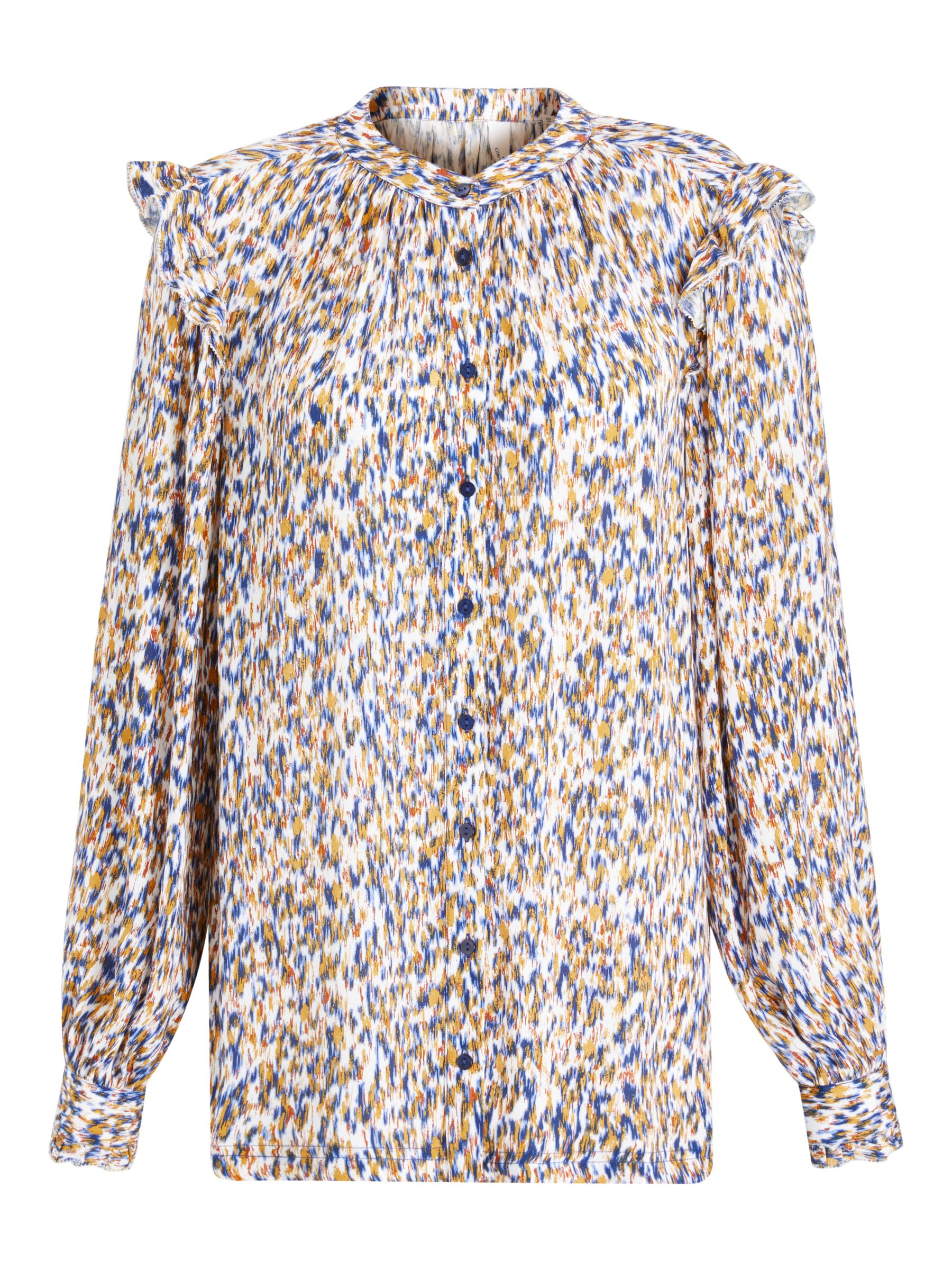Buy AND/OR Arlo Ikat Blouse, Multi, 8 Online at johnlewis.com
