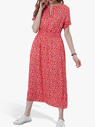 Joules Paloma Waist Dress, Red