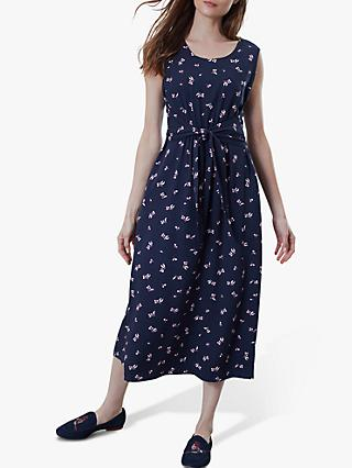 Joules Amaris Knot Dress, Navy Floral Bud