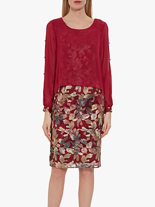 Gina Bacconi Gianina Overlay Dress, Damson