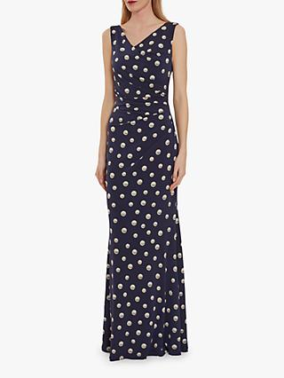 Gina Bacconi Perdita Wrap Maxi Dress, Navy