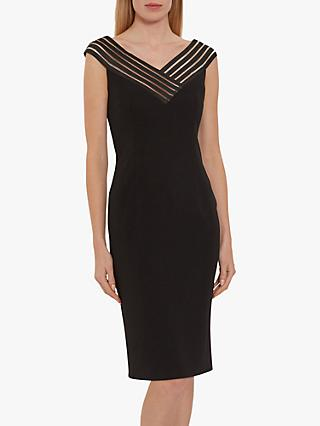 Gina Bacconi Callia Strap Detail Dress, Black