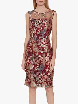 Gina Bacconi Mirta Dress, Red/Multi