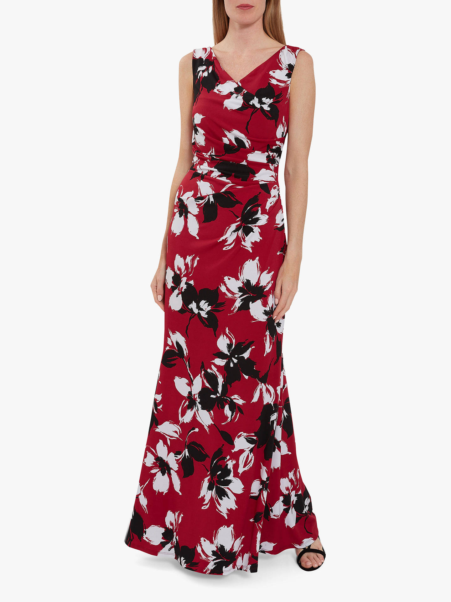 ccf8e00935b4f Gina Bacconi Emaline Floral Maxi Dress, Claret
