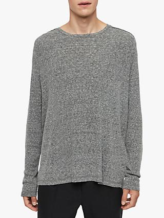 AllSaints Falcon Long Sleeve Crew Neck Sweatshirt