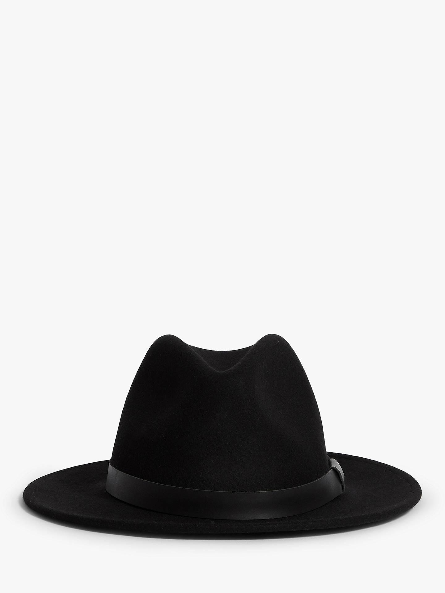 1b857242a AllSaints Bronson Wool Fedora Hat, Black