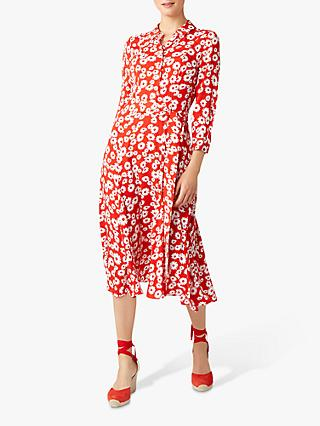 Hobbs Frederica Dress, Bonfire Red