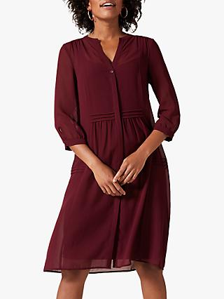 Phase Eight Remee Chiffon Dress, Claret