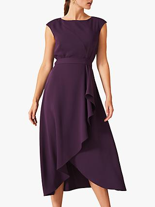 Phase Eight Rushelle Dress, Grape Purple