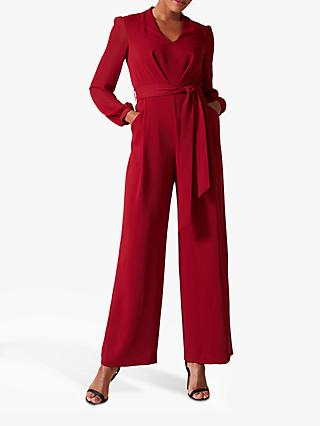 Phase Eight Audrey Jumpsuit, Crimson Red