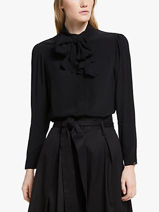 Somerset by Alice Temperley Scarf Neck Blouse, Black