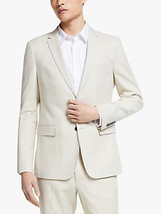 Kin Linen Blend Tailored Fit Suit Jacket, Natural