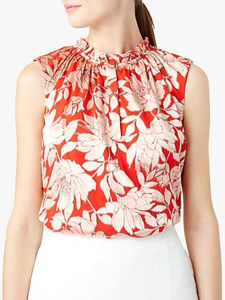 Hobbs Justina Blouse, Red/Pink