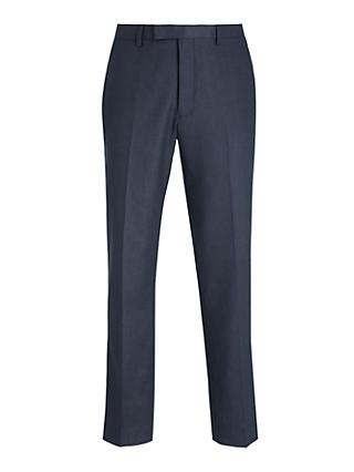 Kin Linen Slim Fit Suit Trousers, Navy