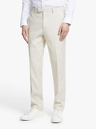 Kin Linen Blend Tailored Fit Suit Trousers