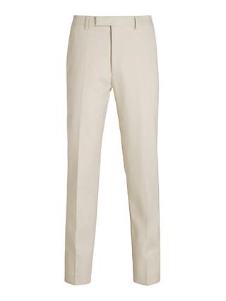 Kin Linen Tailored Fit Suit Trousers, Natural