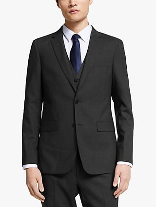 Kin Bengaline Wool Slim Fit Suit Jacket, Charcoal