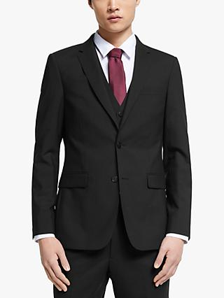 Kin Bengaline Wool Slim Fit Suit Jacket, Black