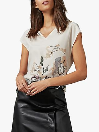 Ted Baker Cariiys Floral Top, Natural Ivory