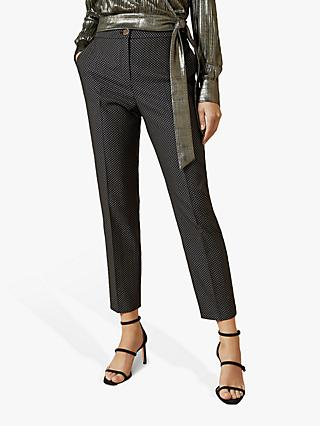 Ted Baker Neolaat Jacquard Suit Trousers, Black