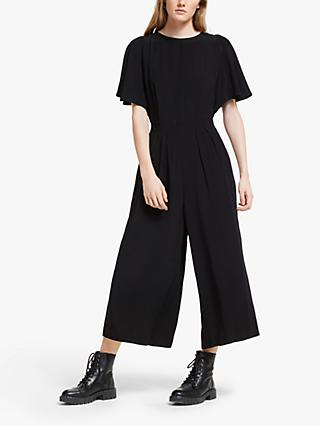 Somerset by Alice Temperley Ruffle Sleeve Jumpsuit, Black