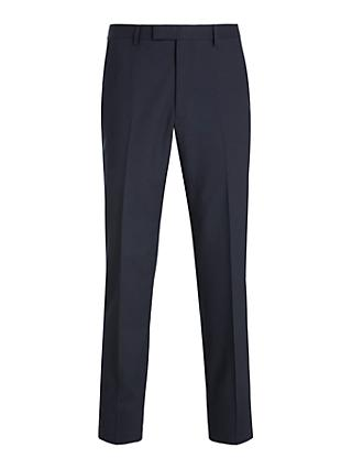 Kin Bengaline Wool Slim Fit Suit Trousers, Navy