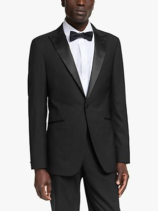 Kin Wool Slim Fit Dress Suit Jacket, Black