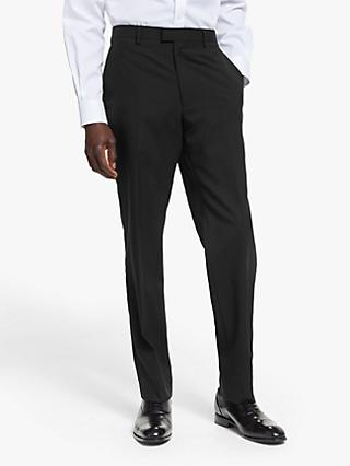 Kin Wool Slim Fit Dress Suit Trousers, Black