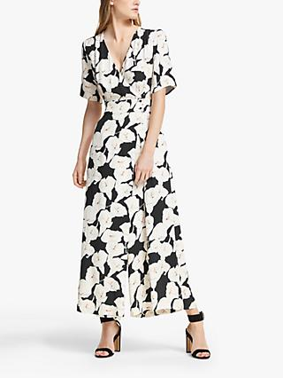 Somerset by Alice Temperley Lily Print Jumpsuit, Black/Multi
