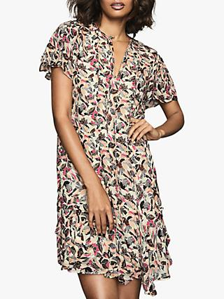 Reiss Stina Floral Print Dress, Pink/White