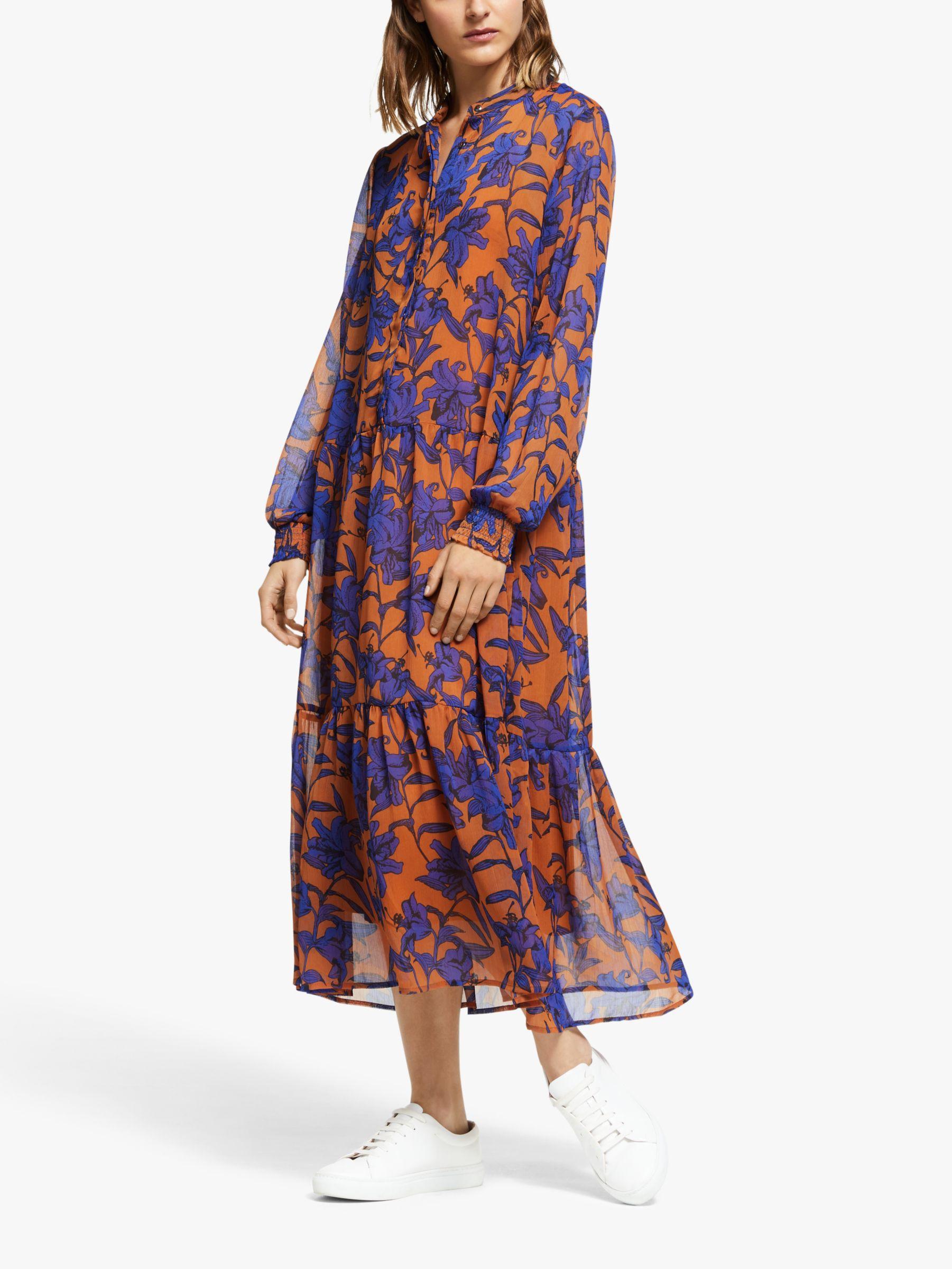 Y.a.s Y.A.S Geeta Long Sleeve Print Dress, Multi