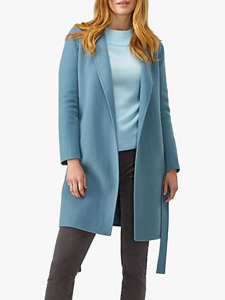 Pure Collection Easy Double Faced Coat, Frost Blue