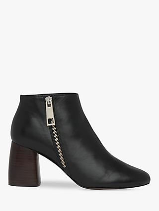 Whistles Pippa Leather Size Zip Ankle Boots