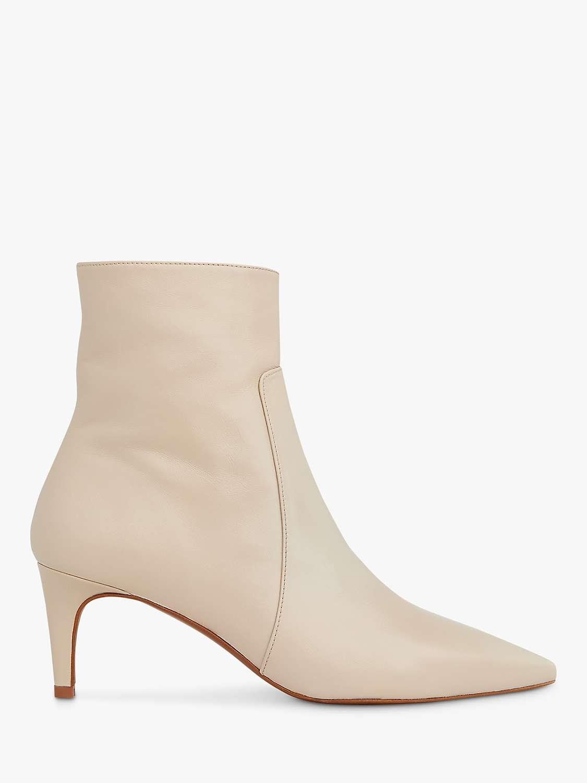 Whistles Celia Kitten Heel Ankle Boots, Stone by John Lewis
