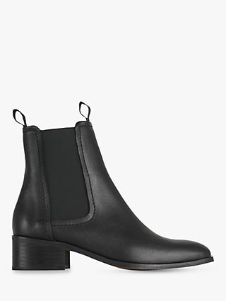 Whistles Fernbrook Leather Ankle Boots, Black