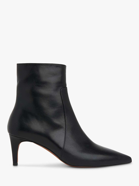 Whistles Celia Kitten Heel Ankle Boots, Black by John Lewis