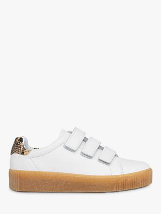 Whistles Flax Rip Tape Low Top Leather Trainers