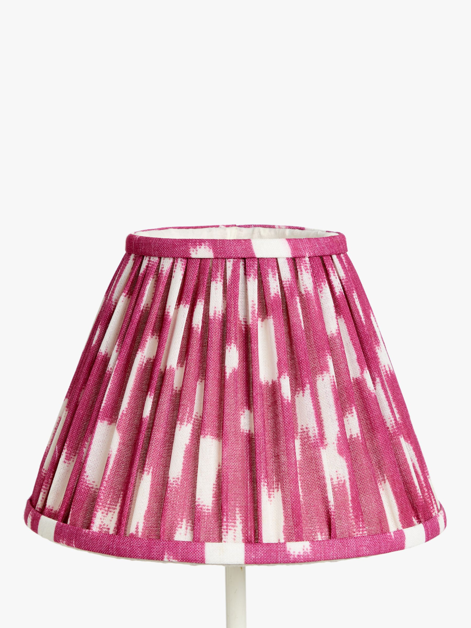 Buy John Lewis & Partners Arrayan Pleated Lampshade, Pomegranate, Dia.25cm Online at johnlewis.com