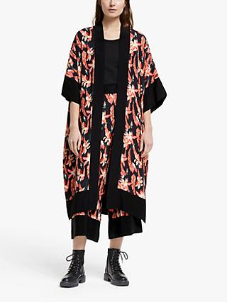 Somerset by Alice Temperley Carnival Floral Kimono, Black/Multi