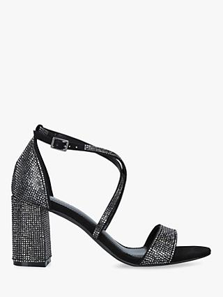 Carvela Girls Embellished Block Heel Sandals, Black