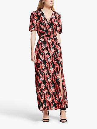 Somerset by Alice Temperley Carnival Floral Midi Dress, Black/Multi