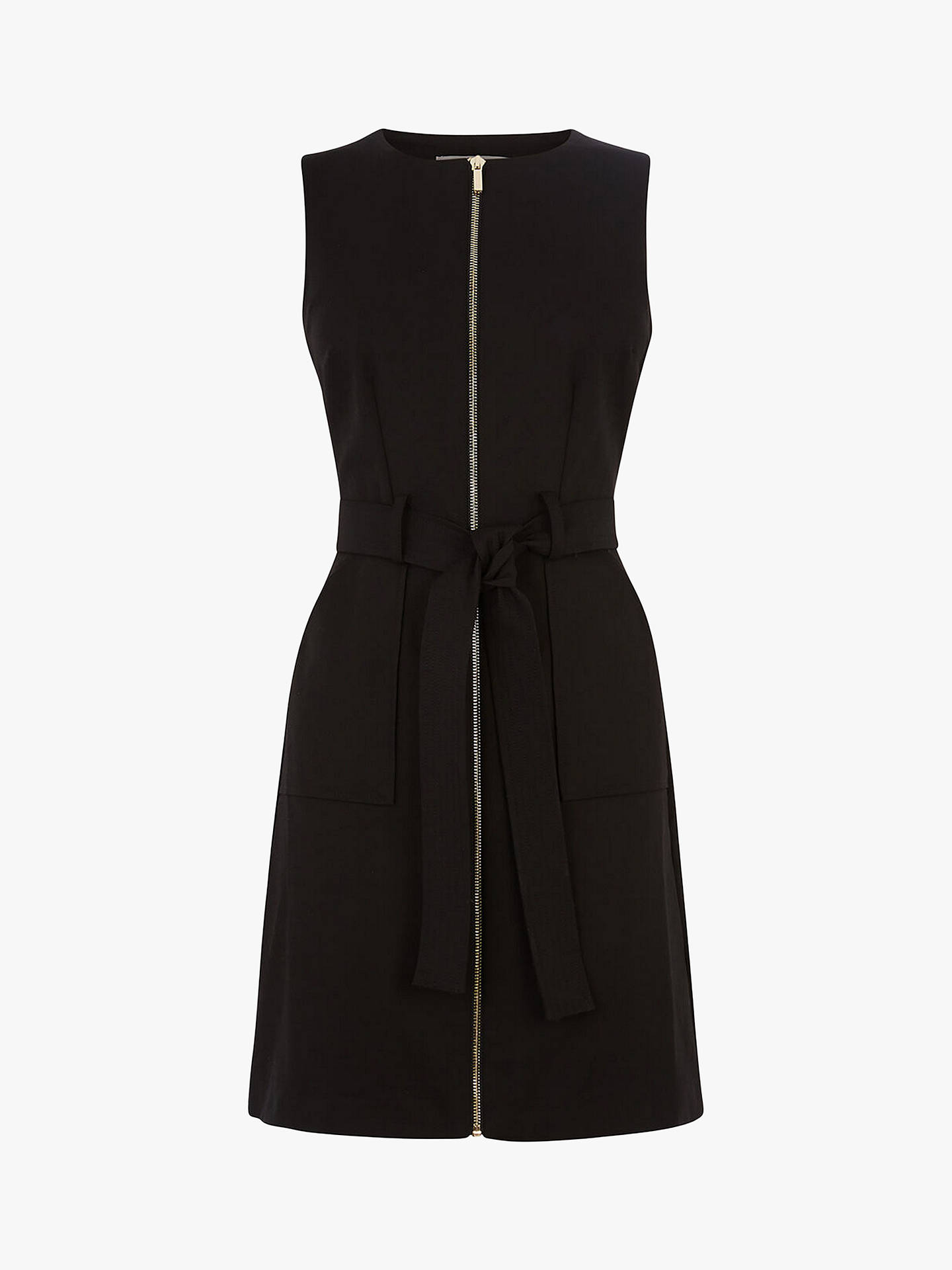Buy Oasis Cotton Blend Utility Shift Dress, Black, 12L Online at johnlewis.com