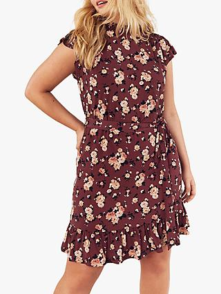 Oasis Curve Floral Skater Dress, Red/Multi