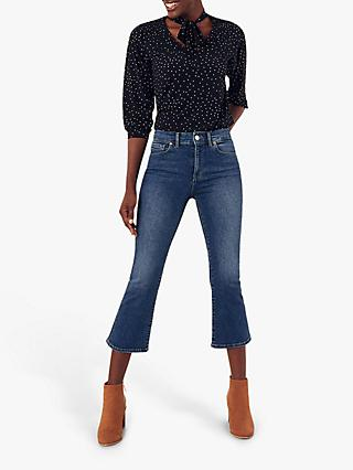 Oasis Frances Bootcut Jeans, Dark Wash