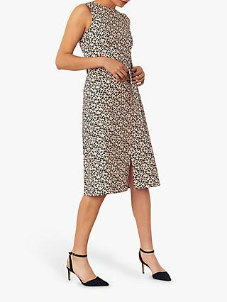 Oasis Animal Midi Dress, Neutral/Multi
