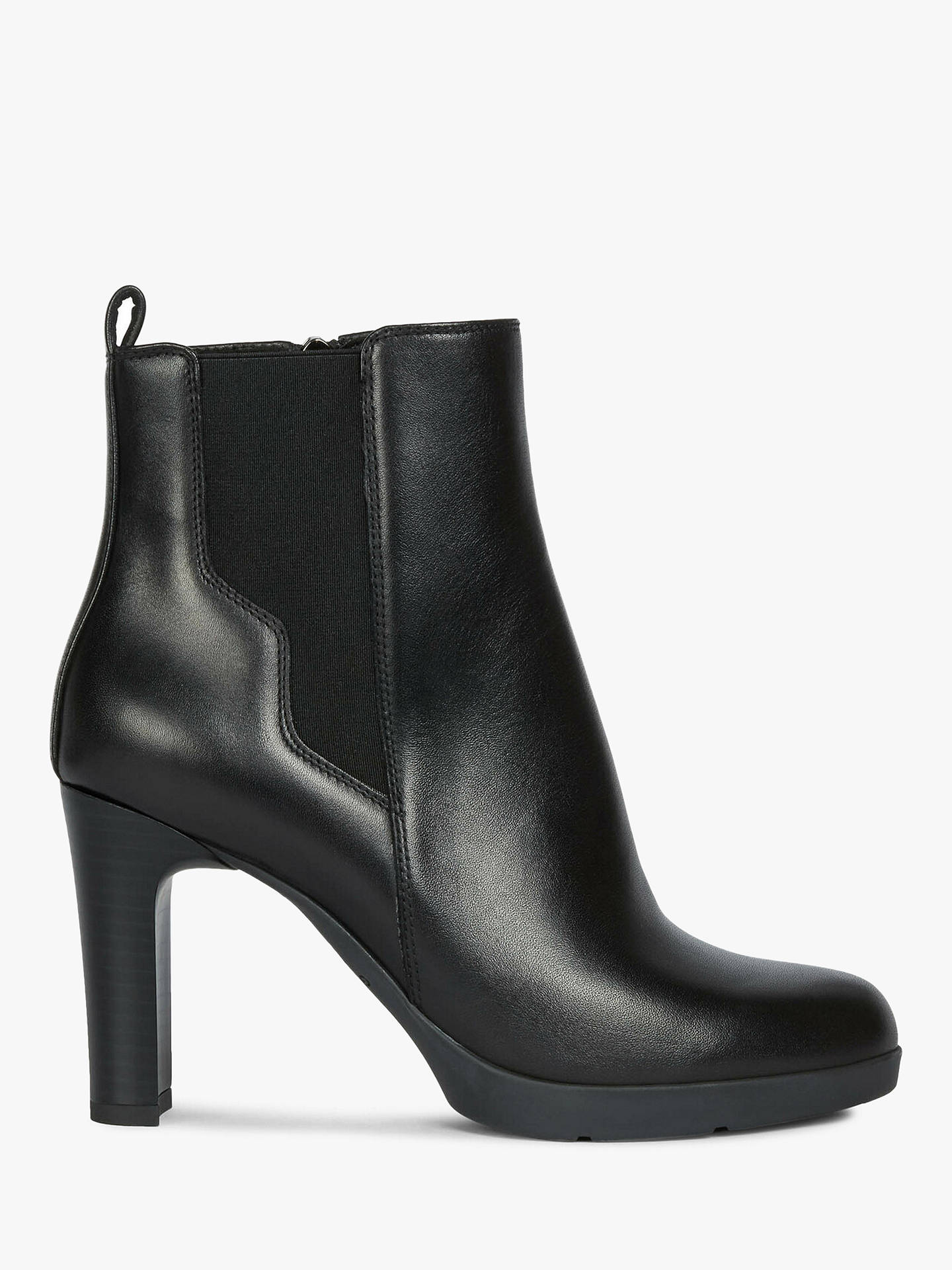 Buy Geox Women's Annya Leather Heeled Ankle Boots, Black, 4 Online at johnlewis.com